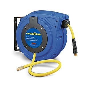 """GOODYEAR Air Compressor Hose Reel Retractable 3/8"""" Inch x 50'  $80.83 Free Shipping Prime"""
