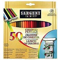 Sargent Art Premium Coloring Pencils, Pack of 50 Assorted Colors Add-on Item $  5.26 @Amazon