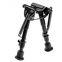 Ohuhu 6-Inch to 9-Inch Adjustable Handy Spring Return Sniper Hunting Tactical Rifle Bipod (Black) $  15.99 sss eligible @ amazon