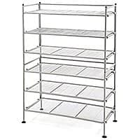 Seville Classics 3-Tier Iron Mesh Utility Shoe Rack (2-Pack), Satin Pewter $  26.98 fs @ amazon / OOS but orderable ! Usually ships within 1 to 2 months.