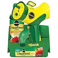 Miracle-Gro LiquaFeed Advance Starter Kit with Garden Feeder, 16 oz. Bottle of LiquaFeed All Purpose Liquid Plant Food, and Dosing $  3 add on item @ amazon