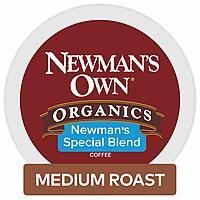 Newman's Own Organics Special Blend Keurig Single-Serve K Cup Pods Medium Roast Coffee, 48 Count w/ S&S+coupon @ Amazon $17.10 or less