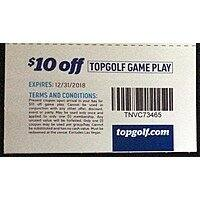 TOPGOLF $10 off game play expires 12/31/2018
