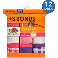Walmart: Girls Fruit of the Loom 12 Pk Cotton Bikinis $  5.97 (10-14), Boys 8 Pk Tanks $  5.96 (m-xl) & More + Free Store Pick Up