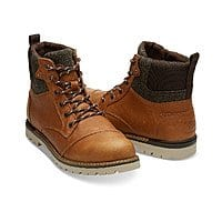 TOMS Waterproof Dark Toffee Leather Men's Ashland Boots $64.99, Women's Classic Slip Ons $19.99 & More + Free S/H $60+