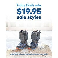 Stride Rite $19.95 Kids' Shoe & Boot Flash Sale, Clearance Shoes from $14  + Free S/H $30+, Online Only