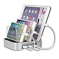 MixMart 3-Port USB Charging Station Docks for iPhone/ iPad and Tablets $  19.75 @Amazon