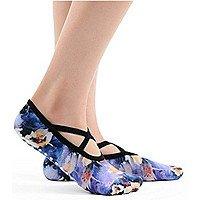 Open Top Non Slip Ergonomic printing Socks Pilates Barre Ballet Yoga Dance $  12.99 @Amazon