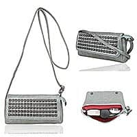Leather Magnetic Flap Studded Cellphone Purse  for $5.87 at Amazon