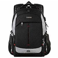 "Travel Backpack w/USB port, fits 17"" laptop, TSA approved  $19.99 after coupon, FS>$35 or FSSS w/Prime"