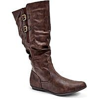 Womens Comfort Double Buckle Slouch Boots $7.99+