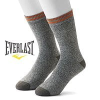 18 Pairs of Men's Everlast Ring Spun Cotton Thermal Socks $18