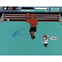 "Mike Tyson Signed Punch Out 16""X20"" for Sam's Club Members $84.88"