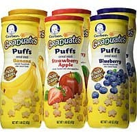 Prime Members: 6-Pk Gerber Graduates Puffs Snack (Variety Pack)  $7.90 w/ S&S + Free S&H