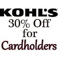 **Upcoming Aug 23** Kohl's 30% off Coupon Code + Free Shipping Code for Kohl's Cardholders