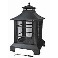 Outdoor Fireplace w/ PVC Cover (Antique Bronze) $  34 + Free Store Pickup ~ Walmart