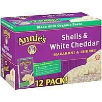 Prime Members: 12-Pack of 6oz Annie's Shells & White Cheddar Mac & Cheese $  9.29 or Less w/ S&S + Free Shipping ~ Amazon