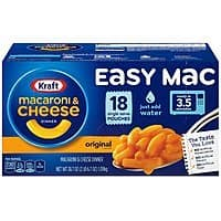 18-Count Kraft Easy Mac Macaroni & Cheese Single Serve Packets $4.23 or Less w/ S&S + Free Shipping ~ Amazon