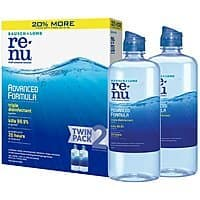 2-Pack of 12oz Bausch + Lomb ReNu Contact Lens Solution $9.24 or Less w/ S&S + Free Shipping ~ Amazon