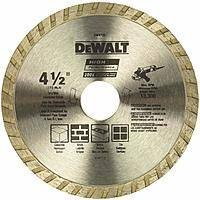 "DeWALT DW4725 High Performance 4-1/2"" Dry Cutting Diamond Masonry Saw Blade $4.99 + Free Shipping ~ Amazon"