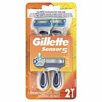 2-Count Gillette Sensor5 Men's Disposable Razors $2.32 or Less w/ S&S + Free S&H ~ Amazon