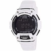 Casio Runners Tough Solar WS220C-7BV White Resin Digital 120 Lap 100M Watch $  19.99 f/s Ebay.com