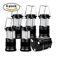 6 Pack Super Bright Portable Camping Outdoor LED Lantern $  24 [F/S Prime]