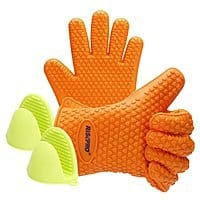 Heat Resistant Silicone Cooking Gloves - Grilling/BBQ/Baking (Free Prime Shipping) $  4.95