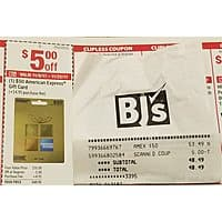 $  50 American Express Gift Card for $  48.49 AC @ BJ's Wholesales Club BM