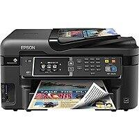 Epson - WorkForce WF-3620 Wireless All-In-One Printer - Black for $  69.99