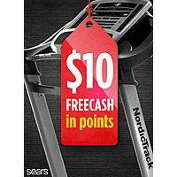 [SEARS] $  10 FREECASH  on fitness