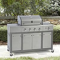 $  269.99 + Free Shipment Kenmore 4 Burner Stainless Steel Lid Gas Grill with Storage