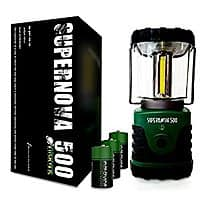 Supernova LED Camping and Emergency Lantern 500 Lumens with batteries $  12.79