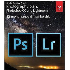 Adobe Creative Cloud Photography Plan for Windows/Mac, 20 GB of Storage (1 User) [12-Month Subscription Download] - $92.99 Staples