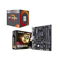 AMD RYZEN 3 2200G Quad-Core 3.5 GHz (3.7 GHz Turbo) Socket AM4 65W Desktop Processor + GIGABYTE AB350M-DS3H AM4 X370 micro ATX Motherboard for $129.99 AR + Free Ship @ Newegg