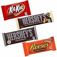 HERSHEY'S Chocolate Candy Bar Variety Pack (Hershey's, Reese's, Kit Kat) 30 Count $13.99 FS Prime