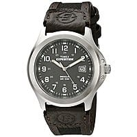 Timex Men's Expedition Metal Field Leather Strap Watch $9