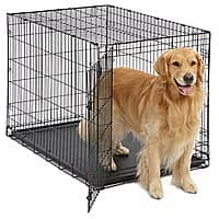 MidWest Homes for Pets Dog Crate | iCrate Single Door & Double Door Folding Metal Dog Crates | Fully Equipped [Single Door] $29.19