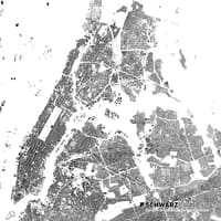Free figure ground plans/city plans (DWG/PDF format), e.g. New York, Tokio and more Image