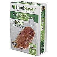 FoodSaver FSFSBF0226-FFP Bags Vacuum Sealers, 44 Quart Size Bags $  6.79 with S&S plus Prime