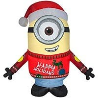 Universal 9.51-ft x 7.87-ft Lighted Minion Christmas Inflatable on sale for $  37.5