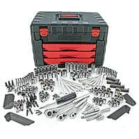$116.99 + F/S Craftsman 270pc Mechanics Tool Set with 3-Drawer Chest