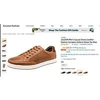 50% OFF JOUSEN Men's Causal Shoes Leather Oxford Shoes for Men at Amazon $24.99