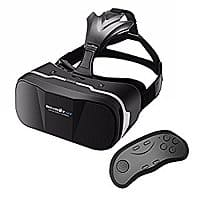 VR Headset with Remote Controller, BlitzWolf Goggles 3D Glasses Virtual Reality Headset for 3.5 - 6.3 inch Smartphones for $  17.99 @Amazon