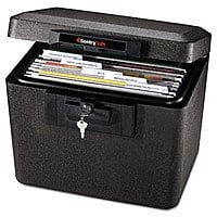 SentrySafe Fire Safe, Fire Resistant File Safe, 0.61 Cubic Feet, 1170BLK [0.61 cubic feet] $35.27+free shipping