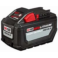 MILWAUKEE M18 REDLITHIUM HIGH OUTPUT HD 12.0Ah Battery Pack $100