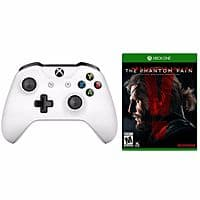 Back again! xBox One S White Wireless Controller +Metal Gear Solid V: Phantom Pain Bundle. $  39.99 (eBay Daily Deal via Newegg)