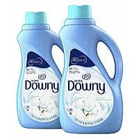 2 count, 51 fl oz each Downy Ultra Cool Cotton Liquid Fabric Conditioner (Fabric Softener) $1.90 (Amazon)