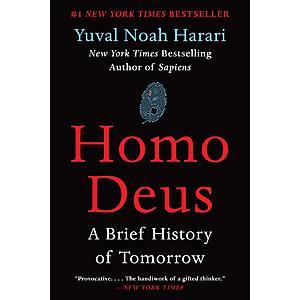Homo Deus: A Brief History of Tomorrow (eBook) $4