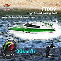 Original Feilun FT009 2.4G 30km/h High Speed RC Racing Boat with Water Cooling Self-righting System $  36 fs
